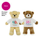 PERSONALISED NAME BIRTHDAY HENRY TEDDY BEAR SOFT TOY GIFT DESIGNS FOR ALL AGES