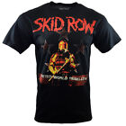 SKID ROW Mens Tee T Shirt Metal Rock Band Music s SM Graphic Logo Tour Black NEW image