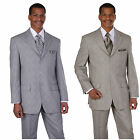 Men's  polyester-Rayon  wool feel 3 button double vents window pane design 58020