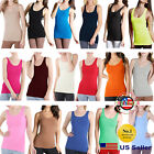 Nikibiki New Womens Seamless Jersey Long Length Tank Top Layering One Size