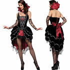 Morris Fancy Dress Adult Women's Witch Vampire Webbed Mistress Costume