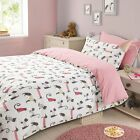 Cat and Dog Animal Print 3Pcs Duvet Set Quilt Cover with Pillow Case Bedding set