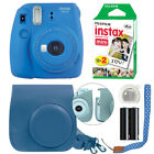 Fuji Instax Mini 9 Fujifilm Instant Film Camera All Colors+ Case &amp; 20 Film Sheet <br/> Cobalt Blue Flamingo Pink Ice Blue Lime Smokey White