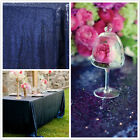 Navy Blue rectangle Sequin Tablecloth for Wedding/christmas Party,choose size