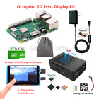 2016 Octoprint 3D Print Display Kit for Raspberry Pi 3 Model B+Power Supply+Case