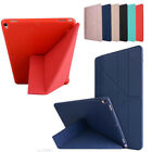 Slim Silicone TPU Leather Multi-function Kickstand Smart Case Cover For Apple