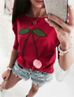 Fashion Women Off Shoulder Floral Long Sleeve Shirt Blouse Loose Top T-Shirt