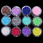 12 Color Colorful Micro Crystal Rhinestone Stone 3D Mini Nail Art DIY Decoration