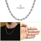 """2MM 10K White Gold Diamond Cut Rope Chain Necklace 16""""- 24"""" Inches image"""