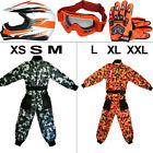 Leopard X16 Orange Junior Kids Motorcross Helmet Race Suit Gloves Goggles ATV