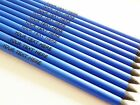 10 BLUE/ BLACK HB PENCILS  PERSONALISED ENGRAVED..NOT CHEAP GOLD BLOCK NEW STYLE