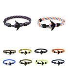 Black Bracelet Double Layerster Rope Cuff Bangle Anchor Wristband Multilayer