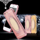 Women Luxury Mirror Rhinestone Back Case Cover for iPhone 6 7 Samsung 8 Sweet
