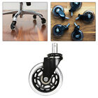 """1/2/5pcs 3"""" Office Chair Rollerblade Style Soft Wheel Casters Ball Bearing Axle"""