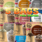 Big Carriage Blended Frozen Frappes Ice Beverage Coffee Smoothies Powder Mix,5 BAGS