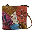 ANNA by Anuschka Women's   Hand Painted Multi Compartment Crossbody 8272