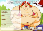 10X FAT LADY BIRTHDAY PARTY INVITE INVITATIONS FUNNY BOYS GIRLS ADULTS NEW  #005