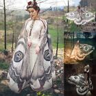 Womens Soft Long Butterfly Wing Cape Scarf Scarves Wrap Printing Silk Shawl Lot