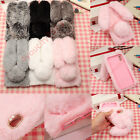Bling Glitter Diamond Bunny Plush Rabbit Furry Soft Fur Case For iPhone 8 7 6SP
