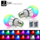 E27 3W RGB LED 16 Multi Color Magic Lamp Light Bulb + Wireless Remote Control US