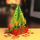 3D Chrismas Stereoscopic Vintage Tree Paper Cards Greeting Card for Celebrating