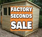"12x6 ""FACTORY SECOND"" Pent Garden Shed Storage Hut Treated Tanalised wooden"