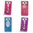 Bling Glitter Diamond Crown Mirror 3D Sparkle Quicksand Soft Phone Case Cover