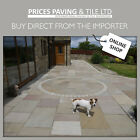 Natural Indian Sandstone Patio Paving Slabs Flags Pavers LARGE SIZES - 7 COLOURS