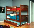 TWIN OVER TWIN BUNK BED W/ OPTIONAL TRUNDLE OR TENT - ESPRESSO