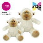 100 Lucy Lambs Sheep Cuddly Soft Toys Without Clothing Blank Plain Plush Gifts