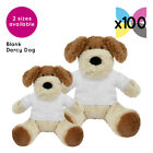 100 Blank Darcy Dogs Soft Toys Plain White T-Shirt for Transfer Sublimation Gift