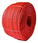 EVERLASTO RED POLYROPYLENE ROPE - 10, 12 & 16MM - VARIOUS LENGTHS