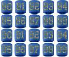 #80-99 Number Sweatband Wristband Baseball Lacrosse Royal Blue Camo Camouflage