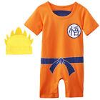 Baby Boys Dragon Ball Z Romper Newborn Goku Costume Jumpsuit Outfit Playsuit Set