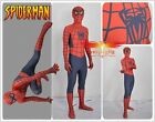 Spider-Man:Homecoming Peter Parker Lycra Spandex Cosplay Costume Tights Custom