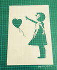 Banksy Girl and Heart Balloon reusable STENCIL for home decor / Not a Decal