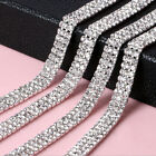 1-row/2-row/3-row 1Yard Silver Crystal Rhinestone Close Chain Trim DIY Hot sales