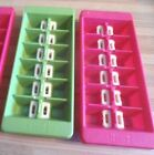 Set of 2 Joseph Joseph EASY snap release ICE CUBE TRAYS hot pink and lime