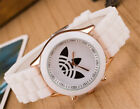 Luminous Gorgeous MEN WOMEN Geneva Clover Style Silicone Quartz Wrist Watch