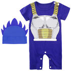 Baby Boys Dragon Ball Z Romper Newborn Goku Halloween Set Infant Vegeta Playsuit