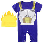 Baby Boys Dragon Ball Z Romper Newborn Goku Outfit Set Infant Vegeta Playsuit