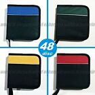 48 Disc CD Media STORAGE BINDER Sleeves Holder Carrying Case Wallet Book E070