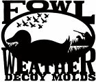 Duck Decoy Body Mold - Puddle Duck - LargeDecoys - 36249