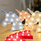 Unicorn Head LED Table Lamp Night Light Kids Gifts Bedroom Warm White Lights