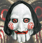 Latex Billy Puppet Mask Realistic Halloween Horror Scary Movie Ventriloquist Dol