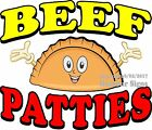 Beef Patties DECAL (Choose Your Size) Food Truck Sign Restaurant Concession