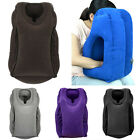 Chic Inflatable Pillow Car Airplane Sleeping Pad Single Color Soft Air Cushion