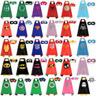 Children Kids Superhero Cape Mask Fancy Dress Costume Super Hero Party Halloween