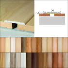 2.7m SELF ADHESIVE ALUMINIUM WOOD EFFECT DOOR EDGING BAR-TRIM-THRESHOLD-30mm
