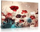 Floral Painting Grunge Style Canvas Wall Art Picture Print